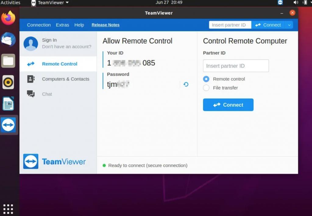 teamview trên ubuntu